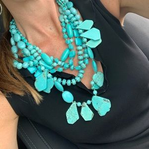 Turquoise necklace Chicos